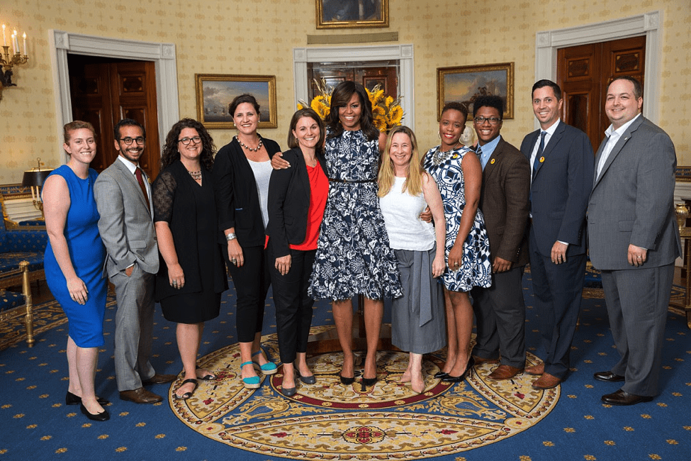 Beating the Odds Summit - Kristian Owens, Michelle Obama, and other group facilitators